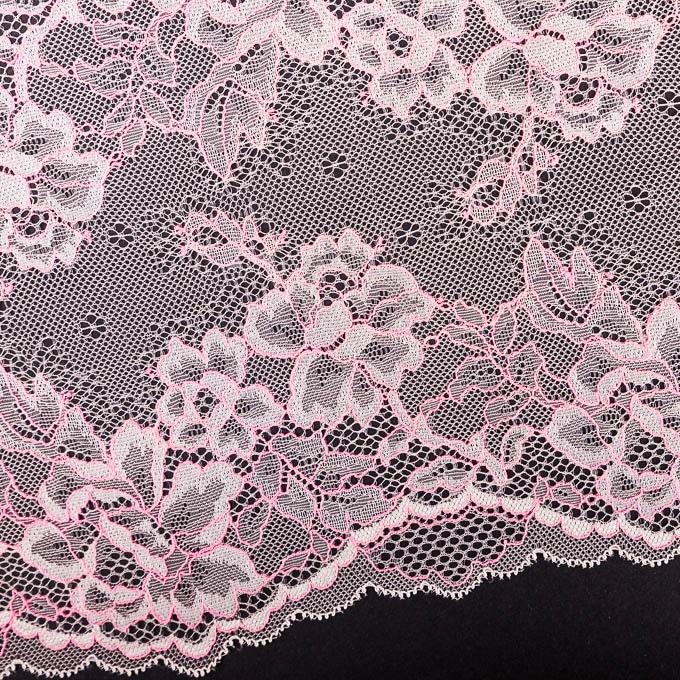 elastische Spitze in creme pink