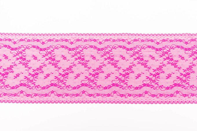 elastische Spitze in pink magenta