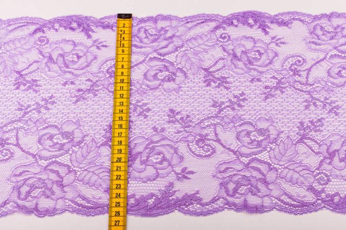 elastische Spitze in zyklame lila