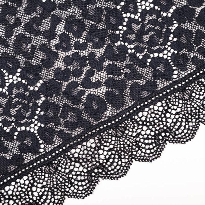 elastische Spitze in schwarz