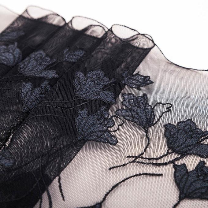 elastische Stickerei schwarz