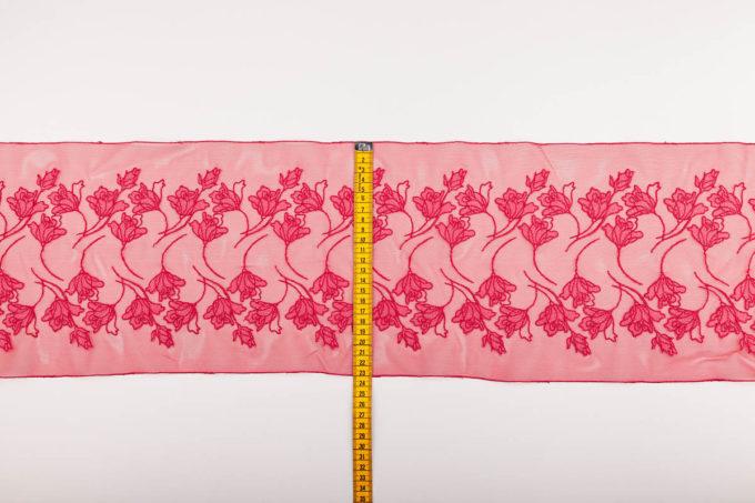 elastische Stickerei flamingo