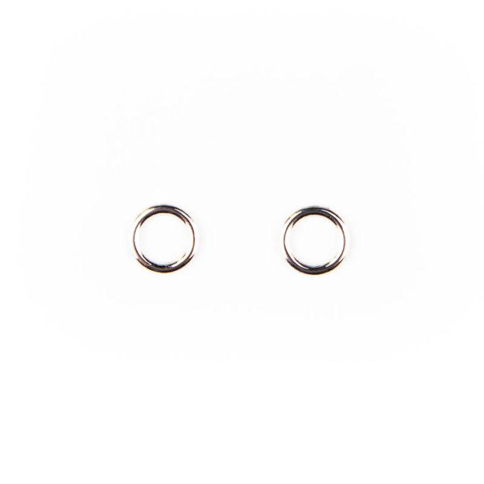 Ringe metall silber 6mm