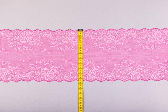 elastische spitze pink