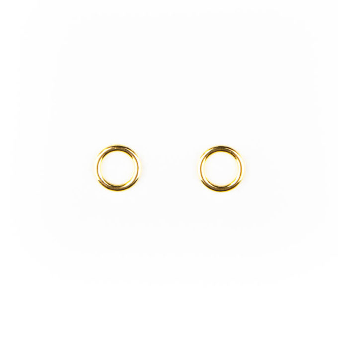 Ringe metall gold 6mm