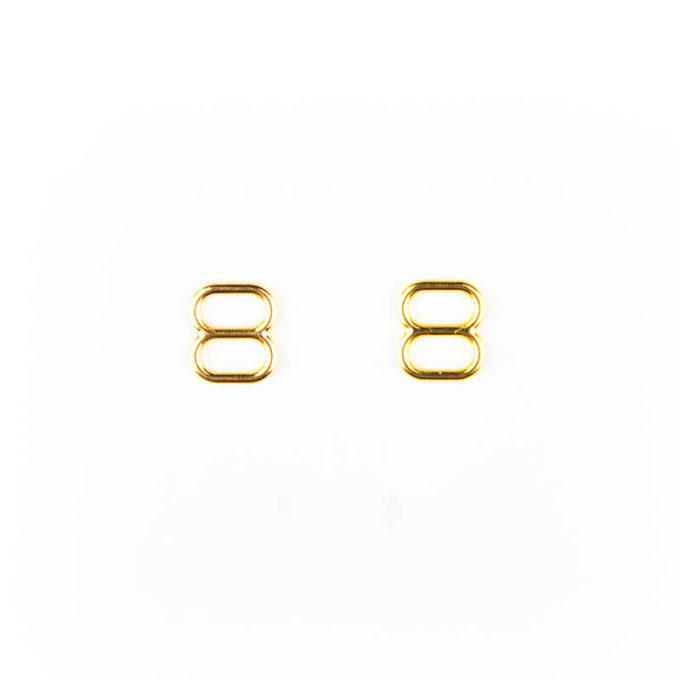 Schieber Metall 6mm gold