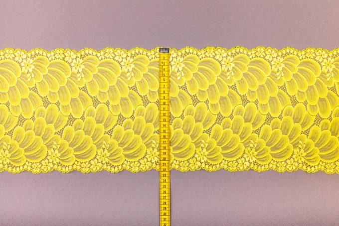 elastische Spitze in gelb