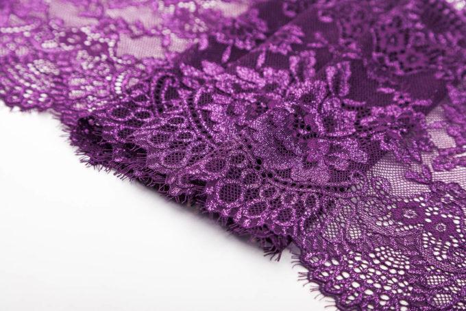 elastische Spitze violett